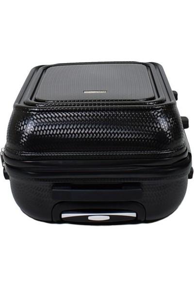 EHS Orta Boy Valiz 4 Tekerlekli Siyah EHS 5159 Valiz