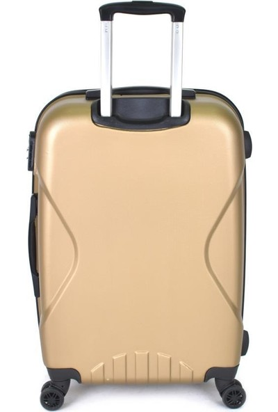 EHS Orta Boy Valiz Abs 4 Tekerlekli Bronz Valiz