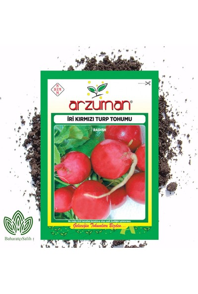 Arzuman Iri Kırmızı Turp Tohumu 25 g