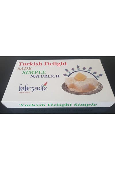 Lalezade Turkish Delight Sade Lokum 300 gr