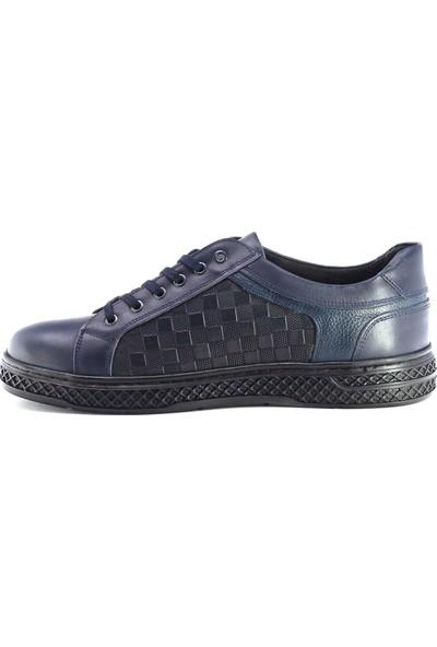 Eşle 9K-T21 Erkek Deri Günlük Ayakkabı Lacivert