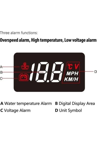Robsan Araç Bilgilerini Cama Yansıtma Cihazı A100 Head Up Display Obd 3.5 Inç Hd