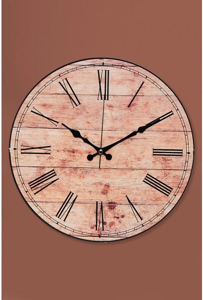 Muyika Bambino Oval Cam Tuğla Desenli Duvar Saati 36 cm