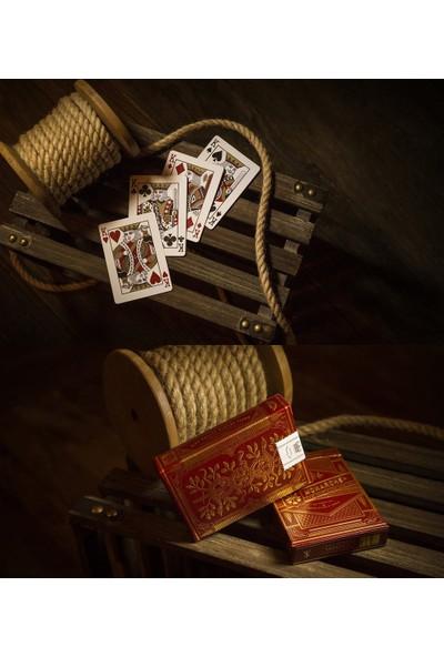 Theory11 Monarch Kırmızı Oyun Kağıdı İskambil Destesi