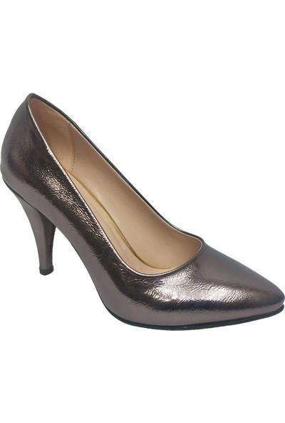 Gizem 366 Çatlak Deri İnce Topuklu Stiletto Kadın Ayakkabı