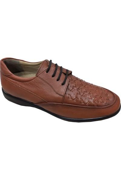 Yolcu 379A Poliüretan Taban Örgülü Desenli Erkek Ayakkabı