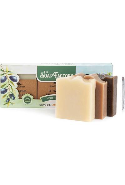 The Soap Factory İpek Serisi 3'lü Sabun Paketi Zeytinyağı - Argan - Çörek Otu