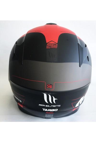 MT Kask Targo Rigel A5 Mat Flo Kırmızı