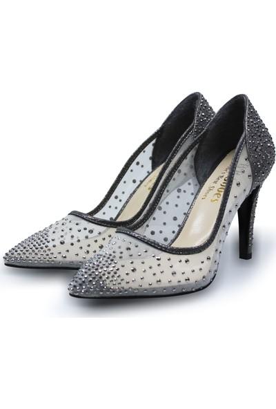 BB Shoes Sindy Abiye Düğün Ayakkabısı Antrasit Renk