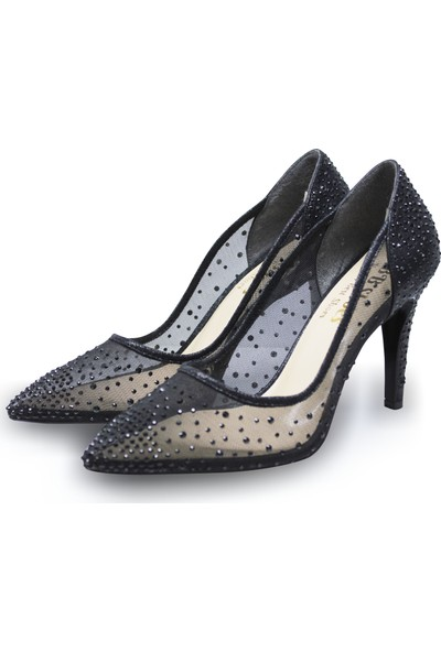 BB Shoes Sindy Abiye Düğün Ayakkabısı Siyah Renk