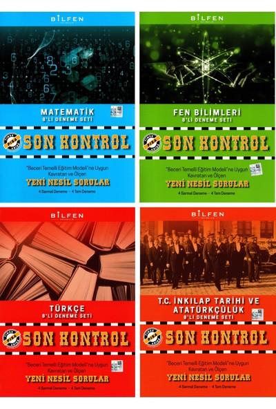Bilfen Yayınları 8. Sınıf Matematik Fen Türkçe Inkılap Son Kontrol Denemesi Seti - 4 Kitap