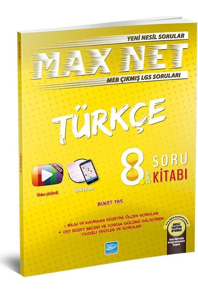 Koza Karaca Yayınları Max Net Türkçe 8. Sınıf Soru Kitabı
