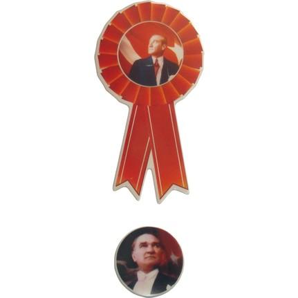 Moniev Ataturk Rozet Sticker Okul Sticker Etiket Stiker 3 Fiyati