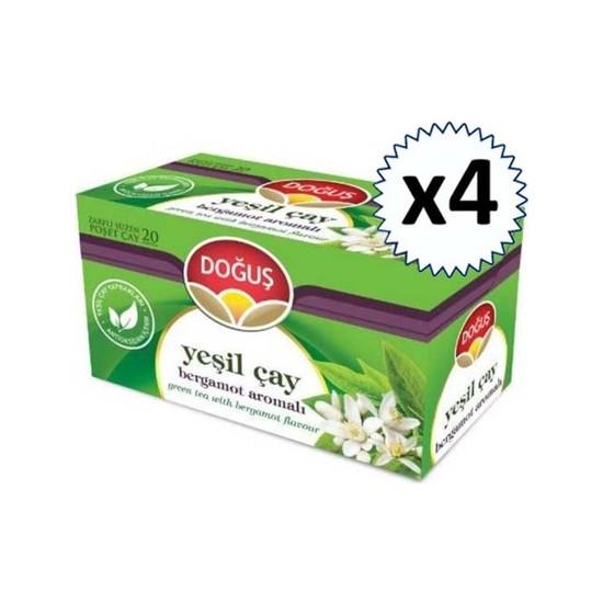 Doğuş Yeşilçay Bergamotlu 20'li 4 Adet