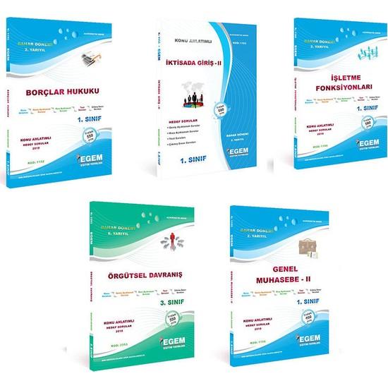 Egem Yayınları AÖF İşletme Yönetimi 1. Sınıf 2. Yarıyıl Bahar Dönemi Konu Anlatımlı Soru Bankası Set