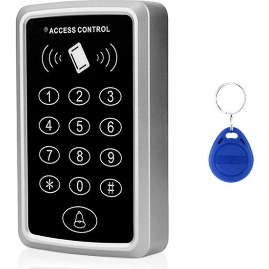 Sonex Rfıd Şifreli Kapı Kilidi - Kartlı Geçiş Kontrol Göstergeç Sistemi + 20 Adet Manyetik Proximity Anahtarlık Tag