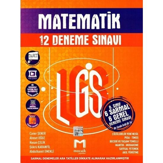 Mozaik Yayınları 8.sınıf Lgs Matematik 12'li Deneme Sınavı