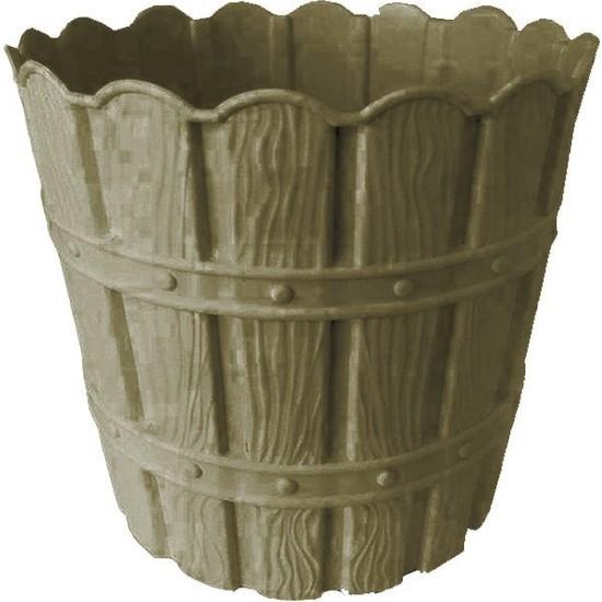 Barok Violet 1047 Gri Barok Bambu Desenli 5 lt Plastik Saksı