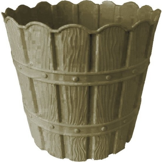 Barok Violet 1048 Gri Barok Bambu Desenli 7 lt Plastik Saksı