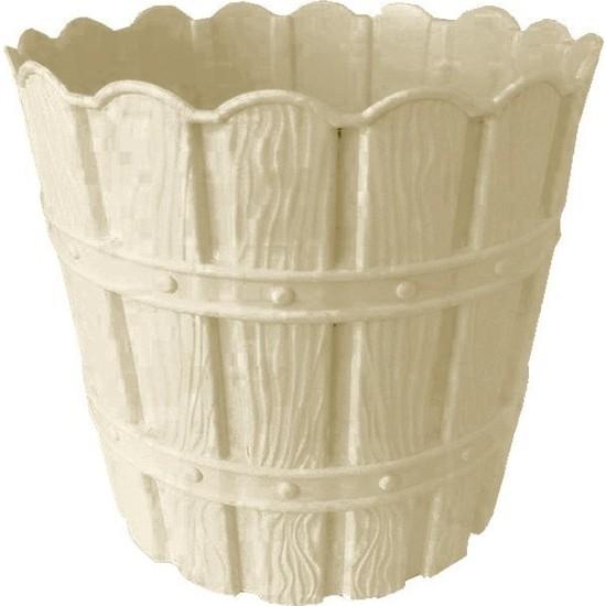 Barok Violet 1048 Krem Barok Bambu Desenli 7 lt Plastik Saksı