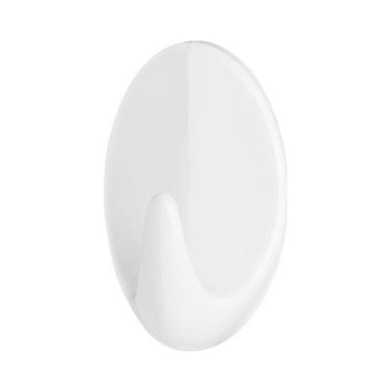 Tesa 66603 Kendinden Yapışkanlı Oval Plastik Beyaz Askı 2'li Paket