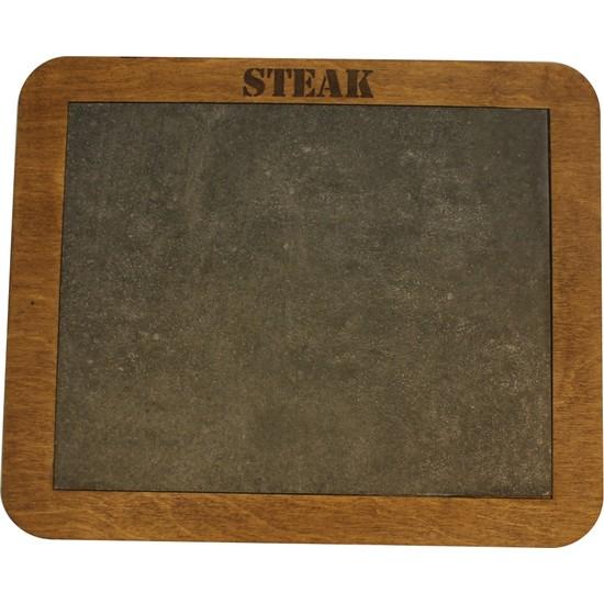 Micro Taşlı Ahşap Steak Tahta