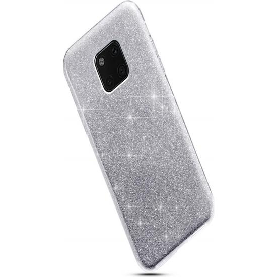 Wowie Xiaomi Redmi Note 7 Gri Simli Silikon Kılıf