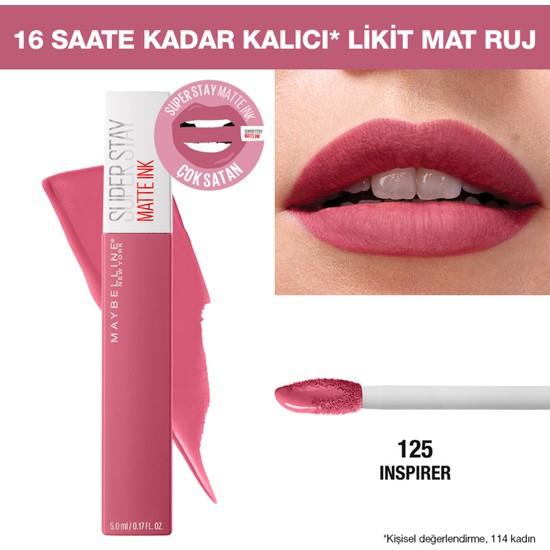 Maybelline New York Super Stay Matte Ink Likit Mat Ruj - 125 Inspirer - Pembe