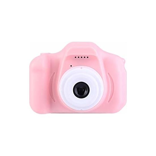 Olix Cmr9 Çocuklar İçin Mini HD 1080P Dijital Fotoğraf Makinesi Pembe