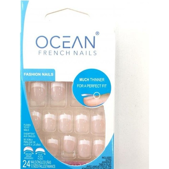 Ocean Takma Tırnak Pembe ( Ince French )