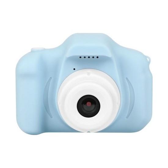Olix Cmr9 Çocuklar İçin Mini HD 1080P Dijital Fotoğraf Makinesi Mavi