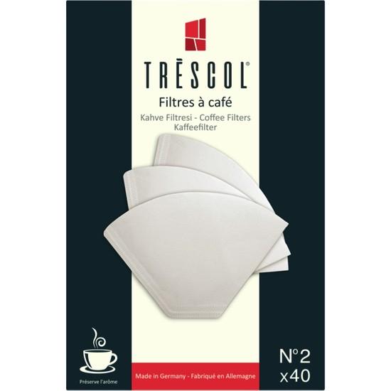 Tréscol Kahve Filtresi 2 Numara (Küçük Boy) 40'lı Paket
