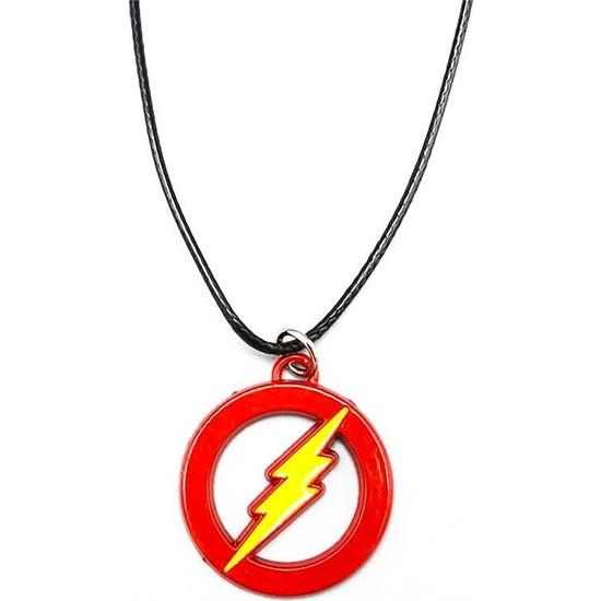 AlpCollection Flash Gordon Avengers Marvel Suni Deri İpli Metal Kolye