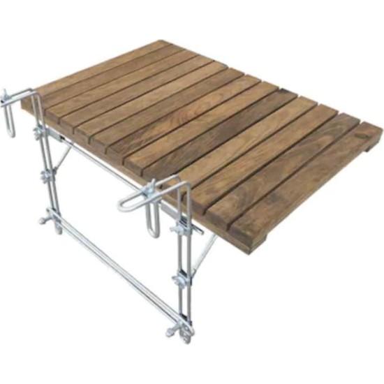 Katlanır Masa Balkon Masası Ahşap Katlanır Masa 2138