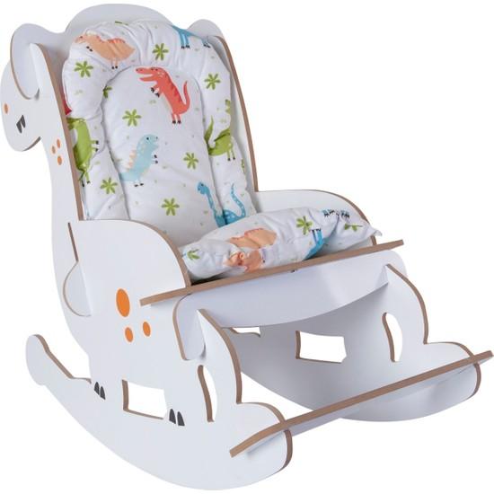 Mavienerji Ahşap Sallanır Çoçuk Sandalyesi