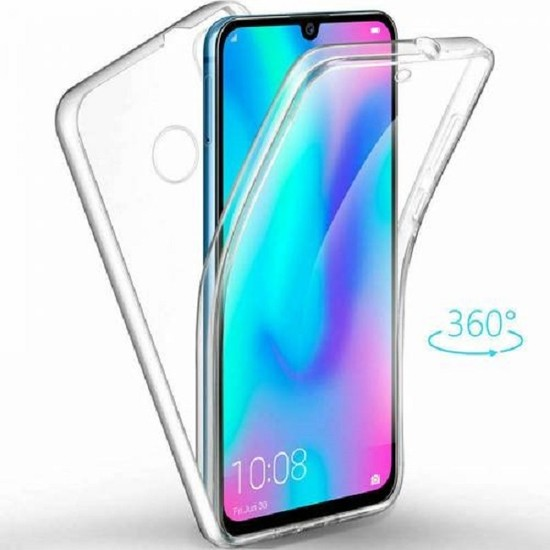 Kılıfreyonum Huawei Y7 2019 Ön Arka Şeffaf 360 Derece Tam Korumalı Kılıf