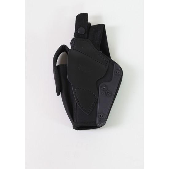 Moda Canel Güvenlik Kumaş Tabanca Kılıfı Siyah 9 mm