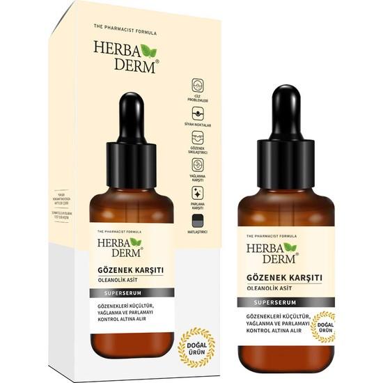 Herbaderm Superserum Gözenek Karşıtı(Oleanolik Asit) 30 ml