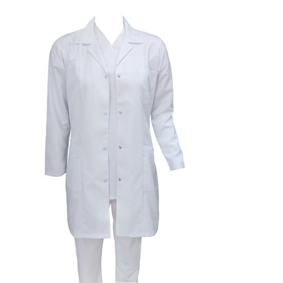 Palmiye Üniforma Pamuklu Gömlek Yaka Doktor Öğretmen Laborant Önlüğü