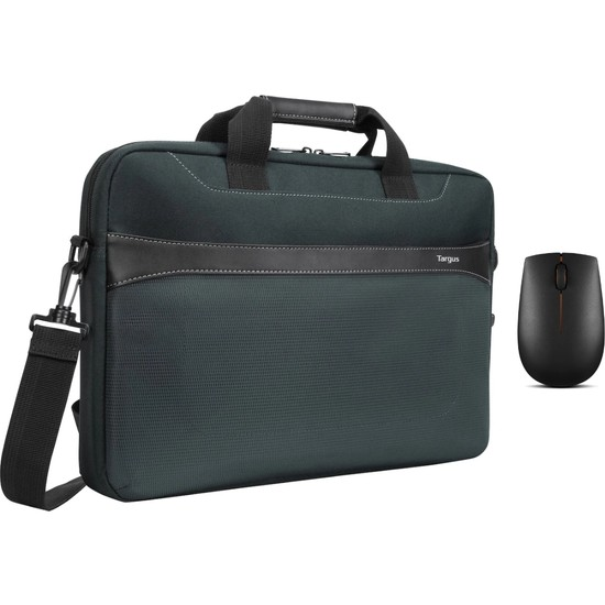 "Targus TSS98401GL Geolite Essential 15.6"" Notebook Çantası + Lenovo 300 GX30K79401 Wireless Compact Mouse Siyah"