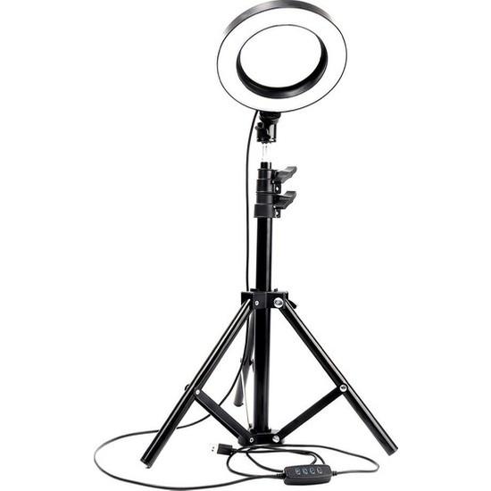 "Asfal 10"" Halka LED 210 cm Tripodlu Youtuber Video Selfie Stüdyo Makyaj Tiktok Işığı Ring Light"