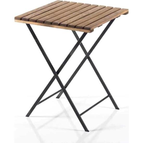 Weblonya Katlanır Masa Bahçe Masası Ahşap Bahçe Masası 2201