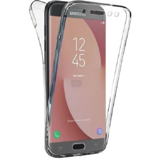 Samsung Galaxy J7 Pro Ön Arka Şeffaf 360 Derece Tam Korumalı Kılıf