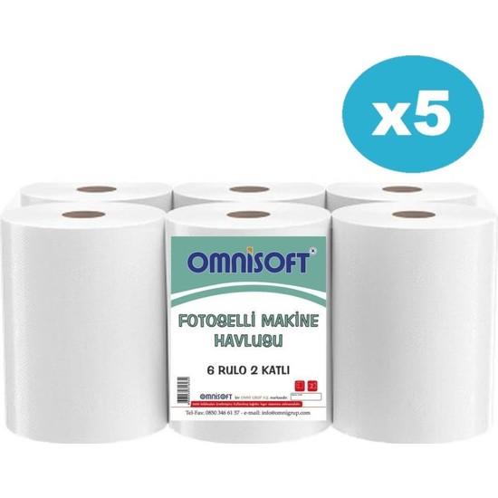 Omnisoft 21 cm Fotoselli Hareketli Kağıt Havlu 5 Koli 30 Rulo