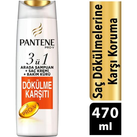 Pantene Saç Dökülmelerine Karşı Etkili 470 ml 3'ü 1 Arada Şampuan ve Saç Bakım Kremi