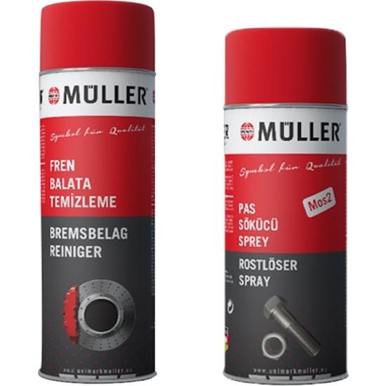 Müller Fren, Balata Spreyi 500 ml + Müller Pas Sökücü Sprey 400 ml Mos2