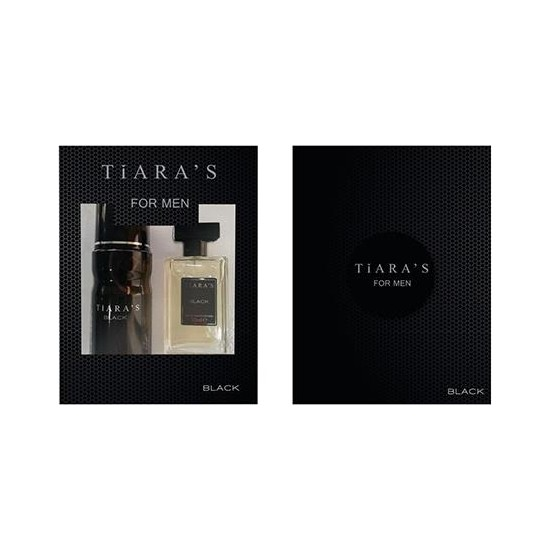 Tiaras Black Erkek Set Parfüm 50ML Edt + 150ML Deodorant