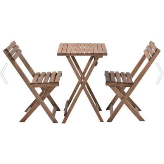 Sepet Içi Indirim Balkon Bahçe 3'lü Bistro Set 2 Sandalye 1 Masa