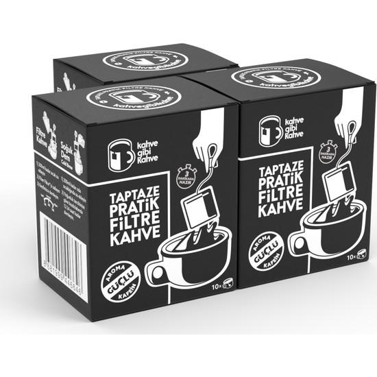 Kahvegibikahve 30'lu Güçlü Pratik Filtre Kahve