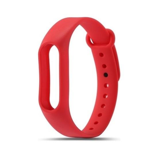 Nomino Mi Band 3/4 Akıllı Bileklik Kordonu Kırmızı